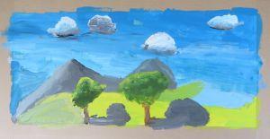 Créer des paysages en peinture
