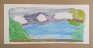 Peinture aquarelle avec les enfants