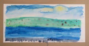 Peinture aquarelle et paysages imaginaires