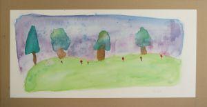 Peinture aquarelle à l'école