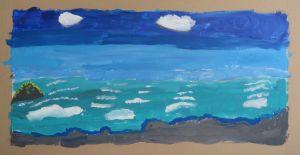 Paysage à l'acrylique