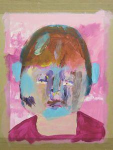 Autoportrait d'une fillette