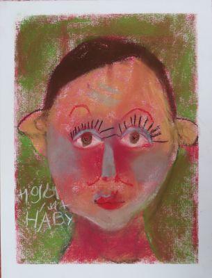 Portrait d'enfant au pastel