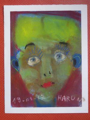 Portrait d'enfant en couleur