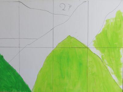 Peindre d'abord des applats colorés