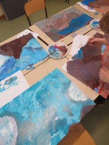 Peindre par petites touches sans eau