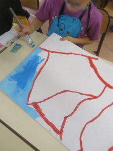 Apprendre à peindre à l'école