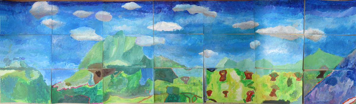 Assemblage des panneaux du hall d'entrée