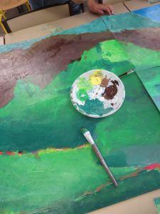 Travailler les dégradés par petites touches de couleur