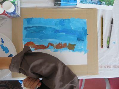 Peindre la ligne d'horizon