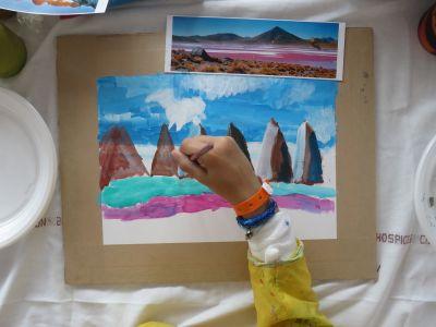 Puis peindre les montagnes