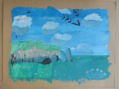 La peinture de Maëlys, 9 ans