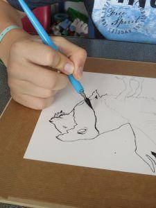 Petit cours de dessin à l'hôpital