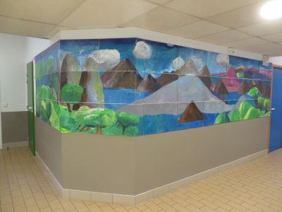 33 panneaux composent cette fresque