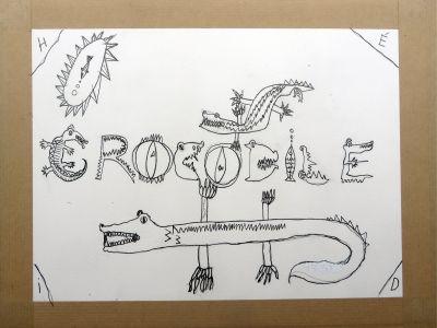 Un crocodile qui détend les enfants