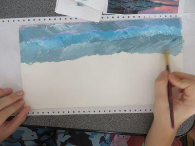 Peindre le ciel par petites touches