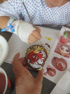 Atelier peinture à l'hôpital
