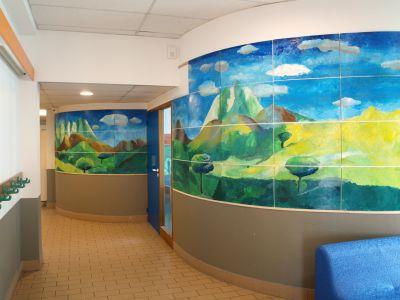 Habillage des murs de la bibliothèque