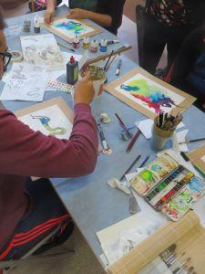 Atelier encre et aquarelle