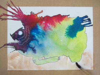 Créature merveilleuse en couleur