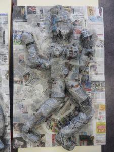 Modelage en papier mâché