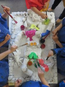 Oeuvre collective à la maternelle