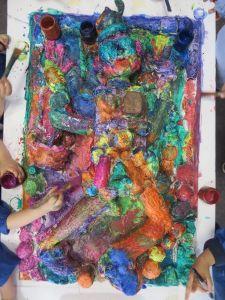 Couches superposées de couleur
