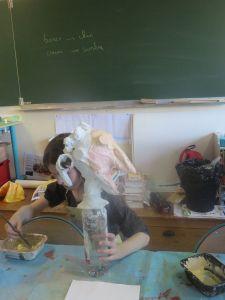 Fabriquer une marionnette à l'école