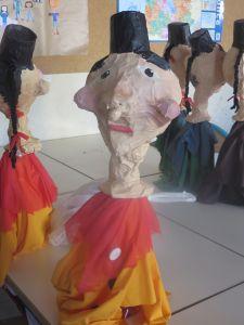 Marionnette en papier mâché