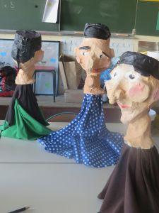 Marionnettes de Guignol réalisées par les enfants