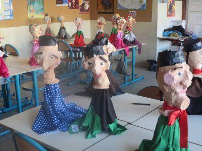Marionnettes réalisées par des enfants de CE2