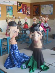 Marionnettes réalisées en classe de CE2