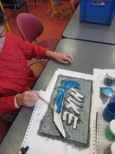 Mise en couleur avec des encres acryliques