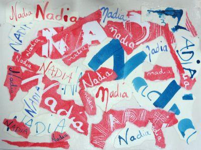 Le tableau calligraphié de Nadia