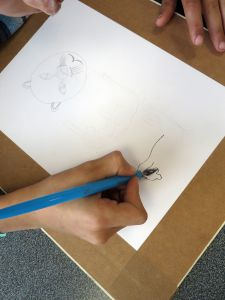 Encrer son dessin à la plume