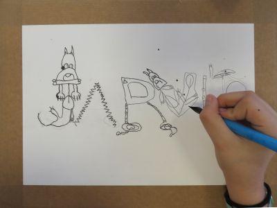 Remplacer des lettres par des dessins