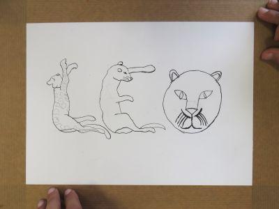 Ecrire LEO avec des dessins