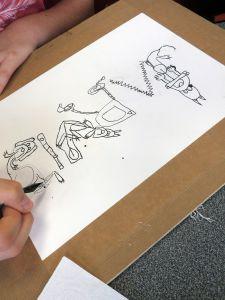 Atelier de dessin à l'hôpital