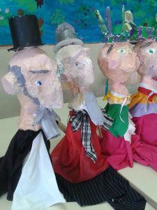Marionnettes fabriquées par des enfants de CE2