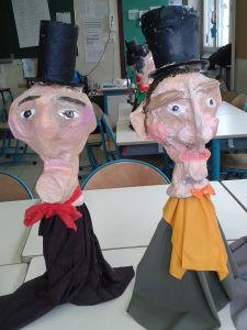 Marionnettes réalisées avec des objets de récupéartion