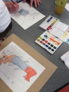 Atelier de dessin avec les enfants à l'hôpital