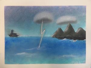 Orage sur l'océan