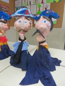 Marinnettes réalisées par des enfants de CE2