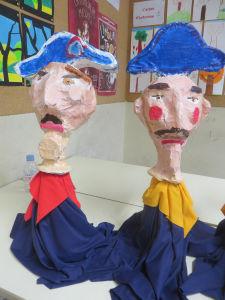 Fabriquer une marionnet de gendarme pour Guignol