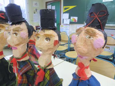 Trois marionnetes de Guignol