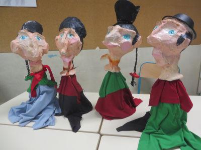 Atelier marionnettes à l'école