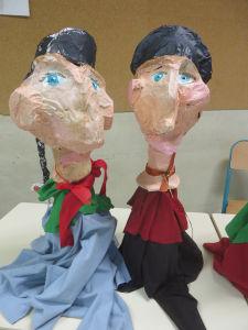 Deux marionnettes de Guignol