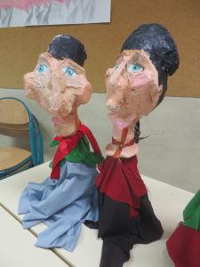 Marionnettes fabriquées par les enfants