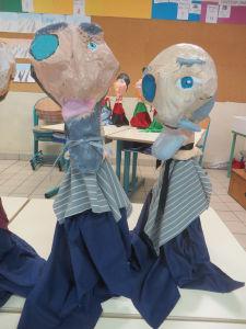 Marionnettes en papier mâché