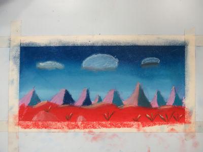 Peinture au pastel